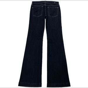 7 For All Mankind Dojo 27X34 Long Flare Blue Jeans
